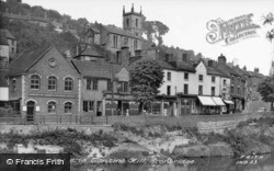 Wharfage And Tontine Hill c.1955, Ironbridge