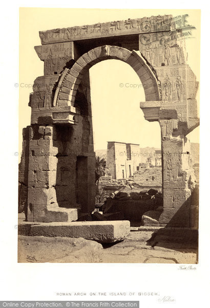 Photo of Island Of Bigeh, Roman Arch 1860