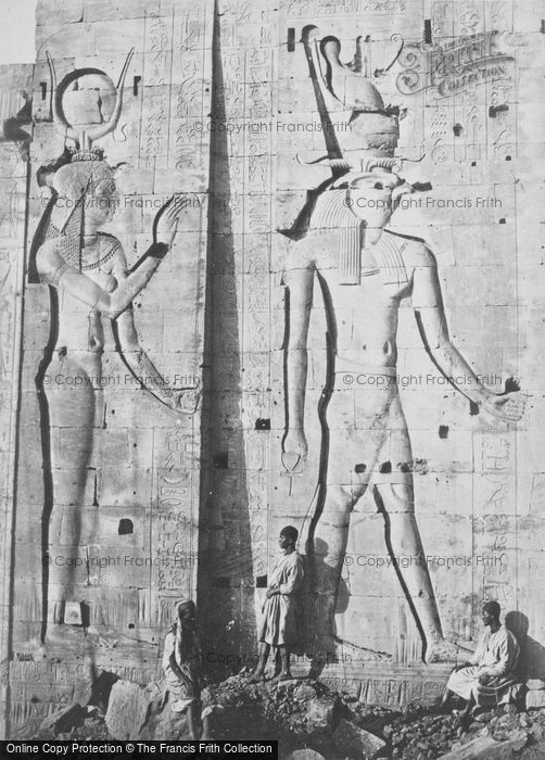 Photo of Island Of Philae, Colossal Sculptures 1860