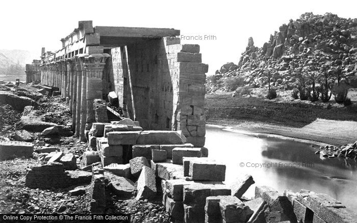 Photo of Island Of Philae, The Colonnade 1860