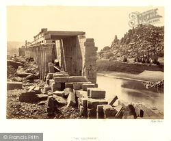 Island Of Philae, The Colonnade 1860