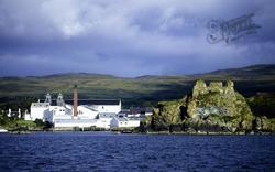 Dunyvaig Castle, Lagavulin And The Whisky Distillery c.1990, Islay