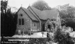 St John The Baptist  Church c.1955, Itchen Abbas