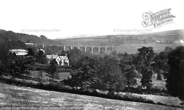 Photo of Ivybridge, Vicarage And Viaduct c.1876