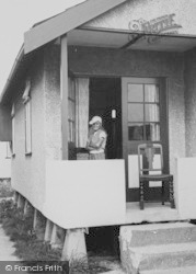 Jaywick, Boy At A 'b' Type Bungalow c.1955
