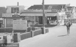 """Jaywick, Mother And Child Leaving """"The Cabin"""" Store c.1955"""