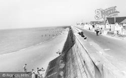 Jaywick, Promenade And Sea Wall c.1960