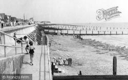 Jaywick, Sea Shore c.1955