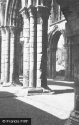 Abbey Columns And South Aisle 1963, Jedburgh