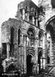 Abbey, Norman Arches And Choir c.1930, Jedburgh