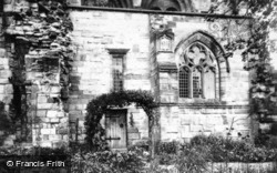 Abbey, The Lady Chapel c.1930, Jedburgh