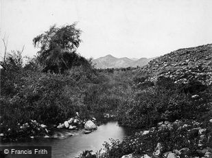 Jericho, the Fountain of Jericho c1867