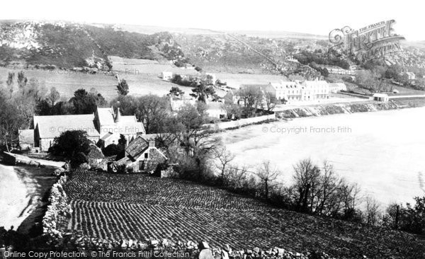 Photo of Jersey, St Brelades Bay And Church 1893