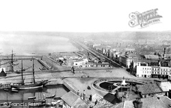 St Helier From Fort Regent 1893, Jersey