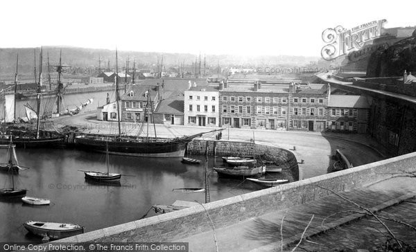 Photo of Jersey, St Helier, The Harbour 1893
