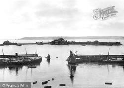St Helier, The Harbour And Elizabeth Castle c.1890, Jersey