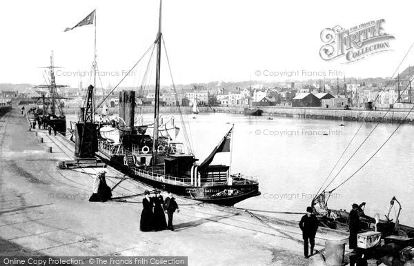Photo of Jersey, St Helier, The Harbour And Ss Gazelle 1893