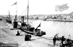 Jersey, St Helier, The Harbour And Ss Gazelle 1893