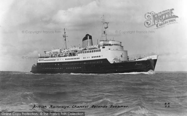 Photo of Jersey, The British Railways Channel Island Steamer c.1955