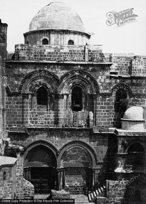 Photo of Jerusalem, Entrance To The Church Of The Holy Sepulchre 1858