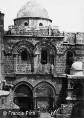 Jerusalem, Entrance to the Church of the Holy Sepulchre 1858