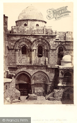 Entrance To The Church Of The Holy Sepulchre 1858, Jerusalem