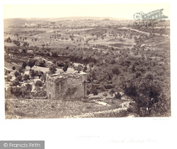 Jerusalem, From Mount Scopus 1858