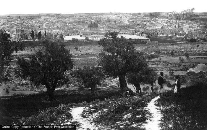 Photo of Jerusalem, From The Mount Of Olives 1857