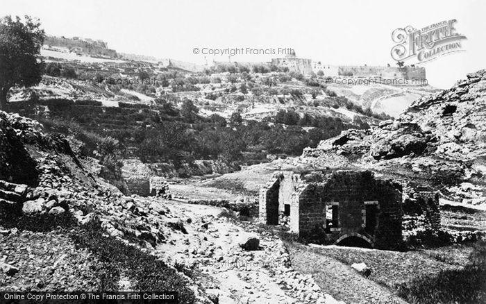 Photo of Jerusalem, From The Well Of En Rogel 1857