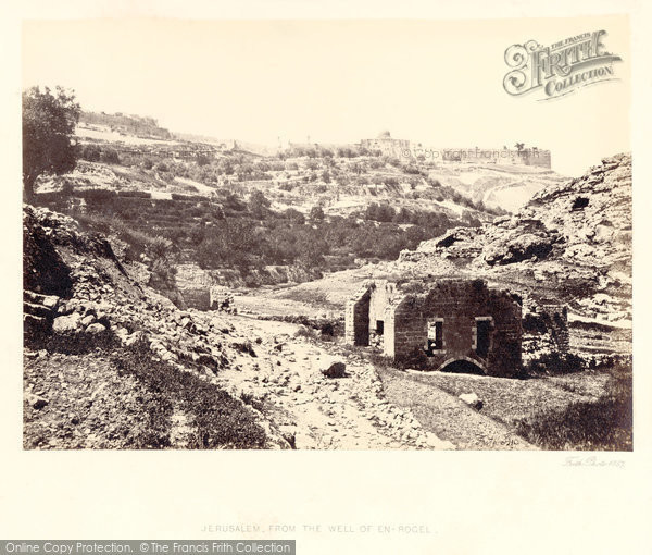 Photo of Jerusalem, From The Well Of En Rogel 1857