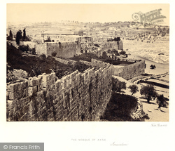 The Mosque Of Aksa And Distant View Of The Mount Of Olives 1857, Jerusalem
