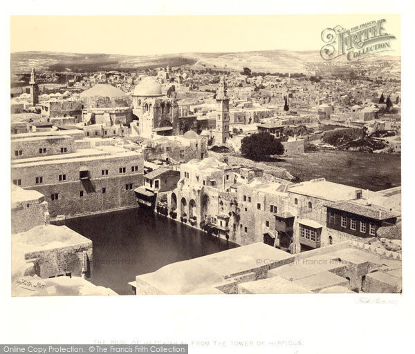 Photo of Jerusalem, The Pool Of Hezekiah From The Tower Of Hippicus 1857
