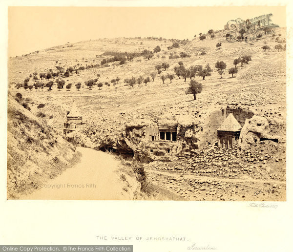 Photo of Jerusalem, The Valley Of Jehoshaphat 1858