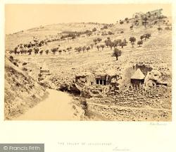 The Valley Of Jehoshaphat 1858, Jerusalem