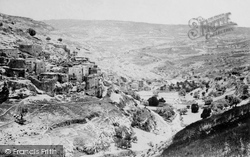 Jerusalem, The Village Of Siloam And Valley Of Kidron 1858