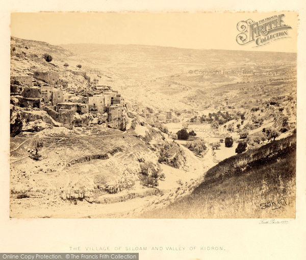 Photo of Jerusalem, The Village Of Siloam And Valley Of Kidron 1858