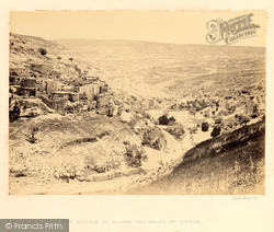The Village Of Siloam And Valley Of Kidron 1858, Jerusalem