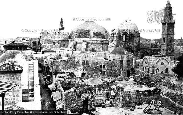 Photo of Jerusalem, View With The Church Of The Holy Sepulchre 1858