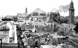 View With The Church Of The Holy Sepulchre 1858, Jerusalem