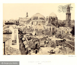 Jerusalem, View With The Church Of The Holy Sepulchre 1858