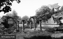 Chapter House And Cloister c.1960, Jervaulx Abbey