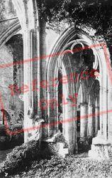 Abbey, Arch Detail c.1930, Jumièges