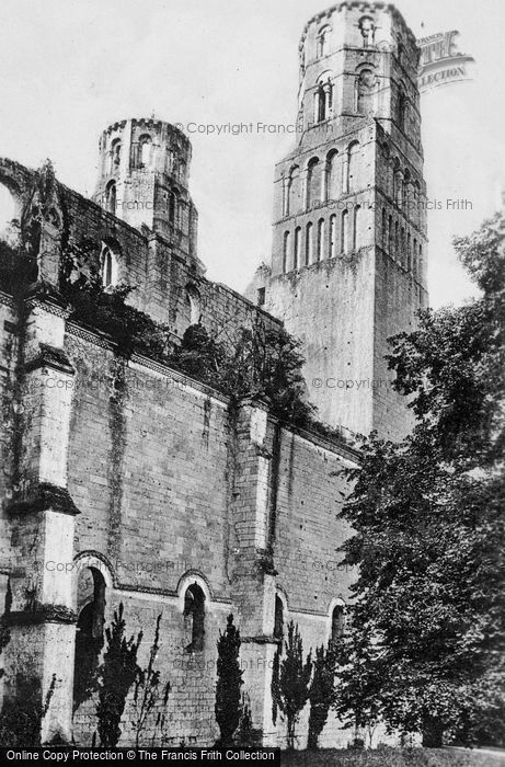 Photo of Jumièges, Abey, Twin Towers c.1930