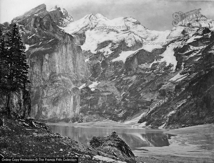 Photo of Kandersteg, The Oeschinen Lake And Blumlisalp c.1860