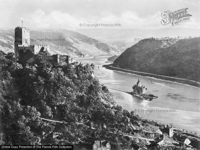 Photo of Kaub, Gutenfels And Pfalz c.1930