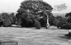 Keighley, Fountain, Devonshire Park c.1950