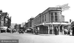 Keighley, The Bus Station c.1950