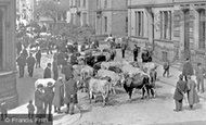 Keighley, the Cattle Market c1910