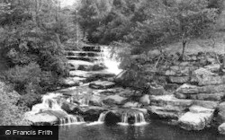 Keld, The Waterfall, Pennine Way c.1955
