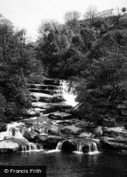 Keld, The Waterfall, Pennine Way c.1960